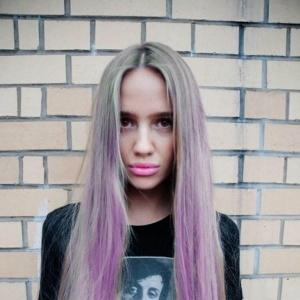 28 Inches Straight Blonde with Purple 100% Human Hair Ombre Wigs