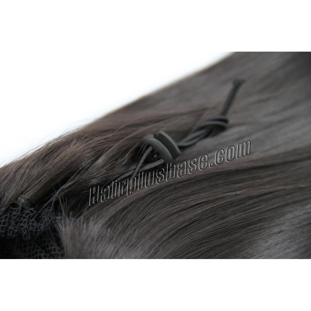 32 Inch Drawstring Human Hair Ponytail Fascinating Straight #2 Dark Brown no 2