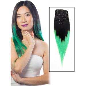 32 Inch Ombre and Fashional  Clip in Hair Extensions Two Tone Straight 9 Pieces