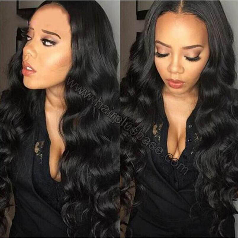 4*4 Glueless Silk Top Full Lace Wigs Indian Human Hair Body Wave