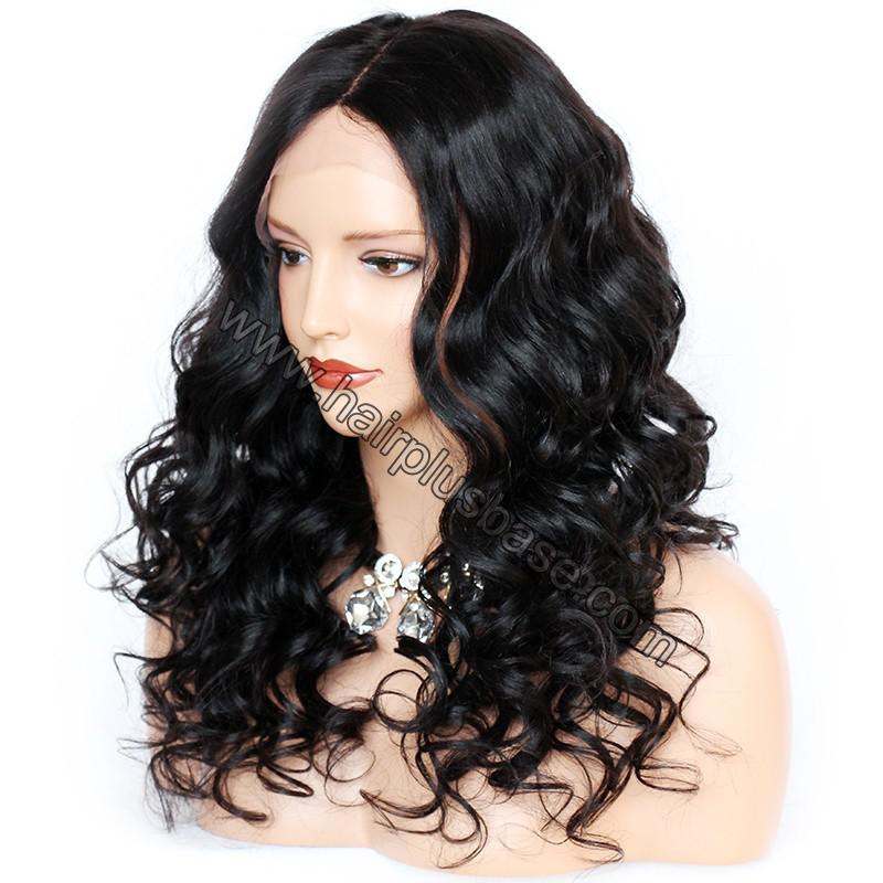 4.5 Inch Deep Part Wavy Lace Front Wigs Indian Remy Hair 2