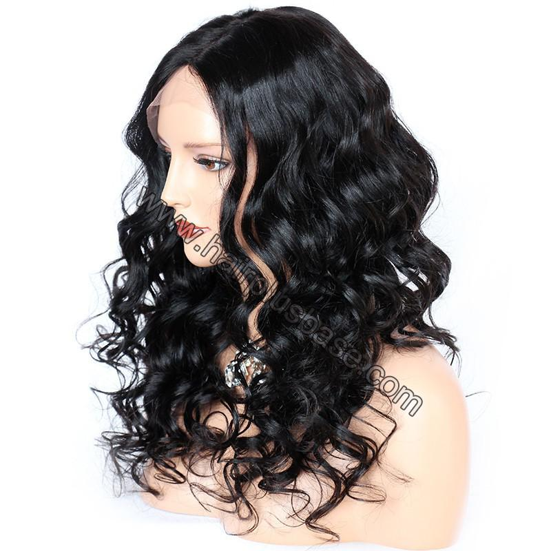 4.5 Inch Deep Part Wavy Lace Front Wigs Indian Remy Hair 3