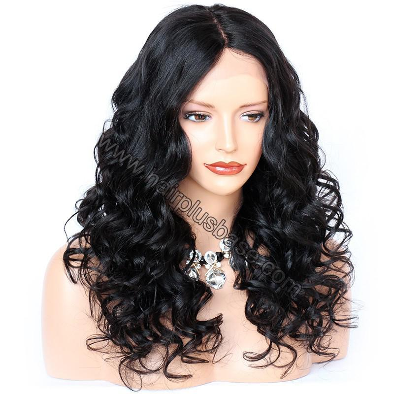 4.5 Inch Deep Part Wavy Lace Front Wigs Indian Remy Hair 4