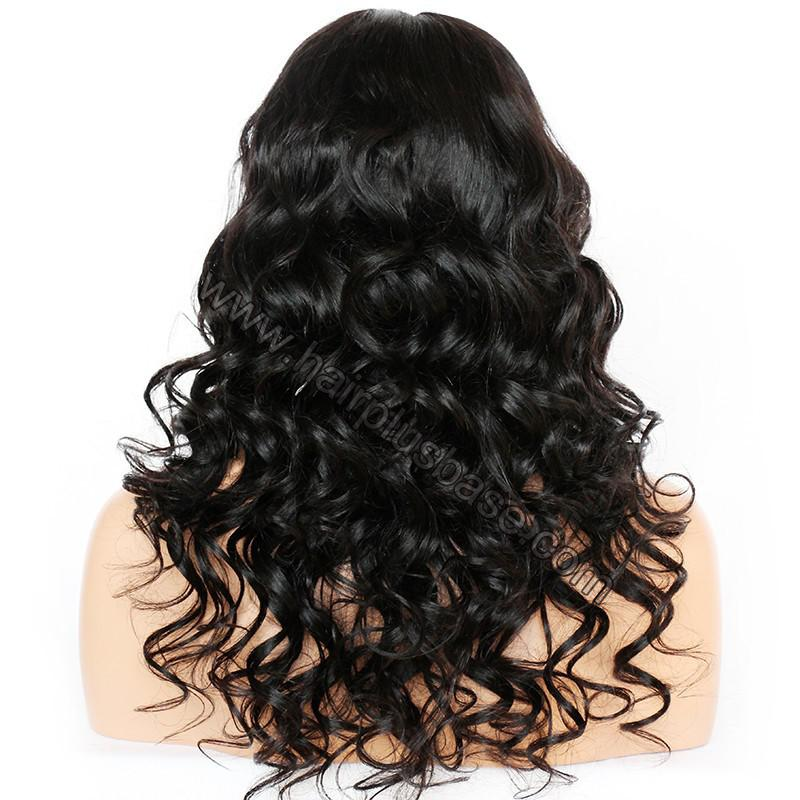 4.5 Inch Deep Part Wavy Lace Front Wigs Indian Remy Hair 7