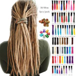 "5pcs 20""  Ombre Dreadlocks Extensions Synthetic Crochet Braiding Dreads Locks"
