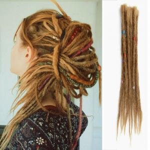 14 - 20 Inch Handmade Dreadlocks 100% Human Hair Dreads Crochet Braiding Hair Extensions 5 Strands
