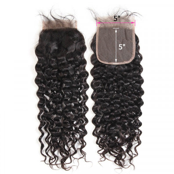 5x5 Size Closure Brazilian Natural Wave Hair Lace Frontal Closure For Sale 6