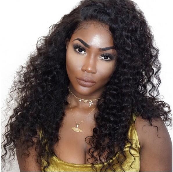 6 Inches Dee Part Pre Plucked Deep Wave 360 Lace Wigs 150% Density, 100% Indian Remy Hair 360 Wig