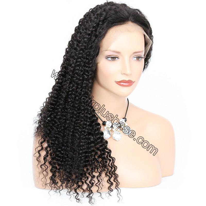6 Inches Dee Part Pre Plucked Kinky Curly 360 Lace Wigs 150% Density, 100% Indian Remy Hair 360 Wig