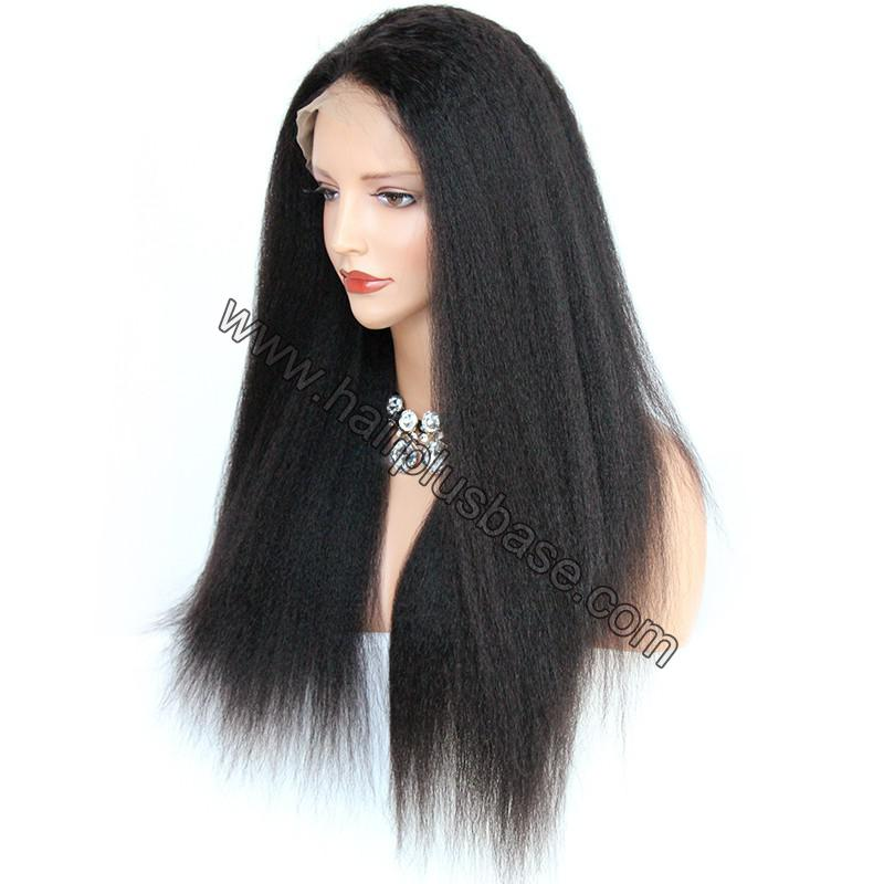 6 Inches Dee Part Pre Plucked Kinky Straight 360 Lace Wigs 150% Density, 100% Indian Remy Hair 360 Wig