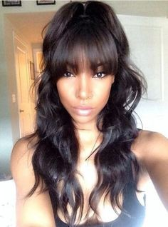6 Inches Dee Part Pre Plucked Super Wave With Bangs 360 Lace Wigs 150% Density, 100% Indian Remy Hair 360 Wig