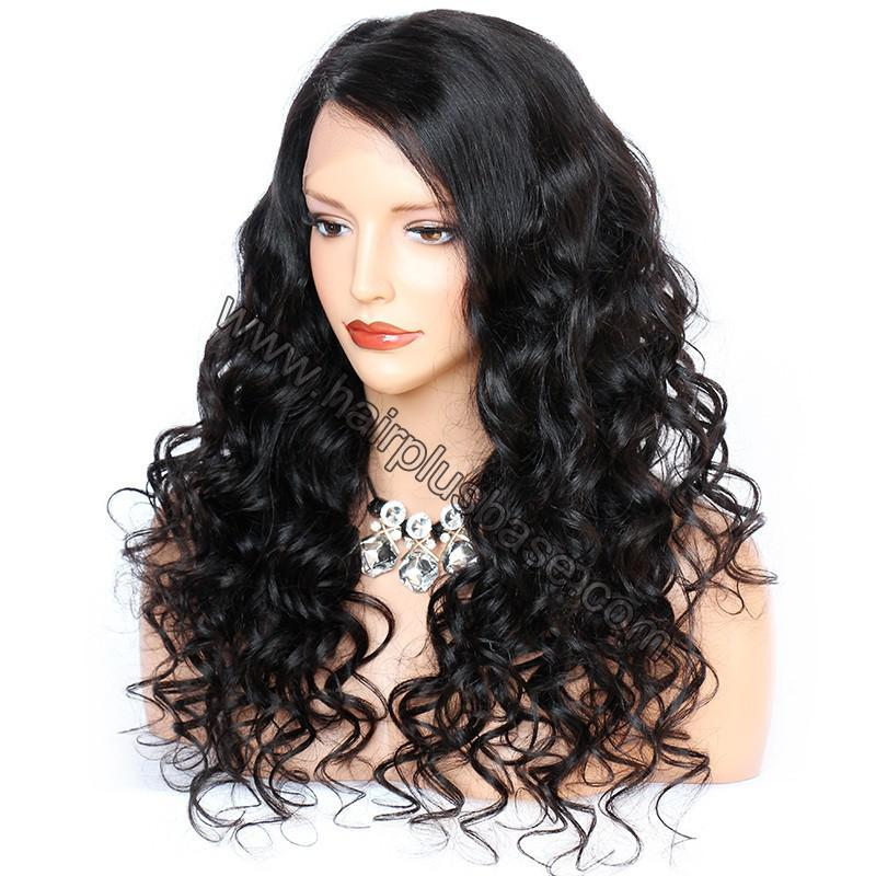6 Inches Deep Part New Spiral Body Wave Lace Front Wigs Indian Remy Hair, 150% Density, Natural Color