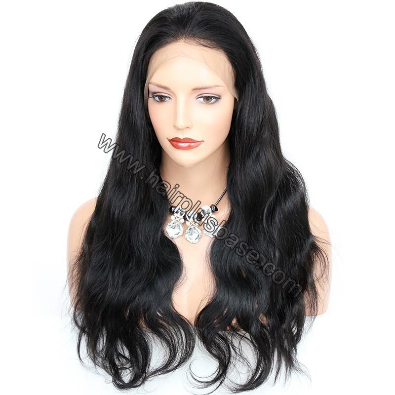 6 Inches Deep Part Pre Plucked Body Wave 360 Lace Wigs 150% Density Indian Remy Hair