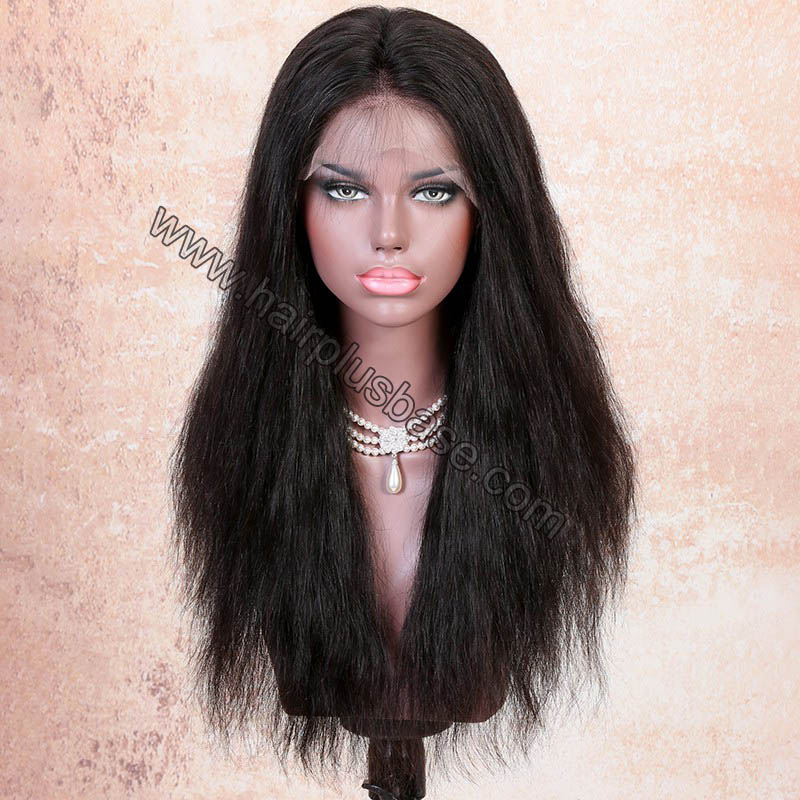 6 Inches Deep Part Pre Plucked Natural Straight 360 Lace Wigs 150% Density Indian Remy Hair 360 Wig