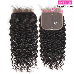 6x6 Lace Closure Natural Wave Hair Lace Closure Unprocessed Virgin Hair