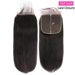 7*7 Size Straight Hair Lace Closure Real Human Hair Closure