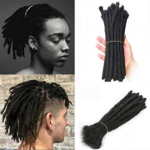 "8"" Short Men's Dreadlocks 100% Human Hair Handmade Jamaican Dread Hair Extension"