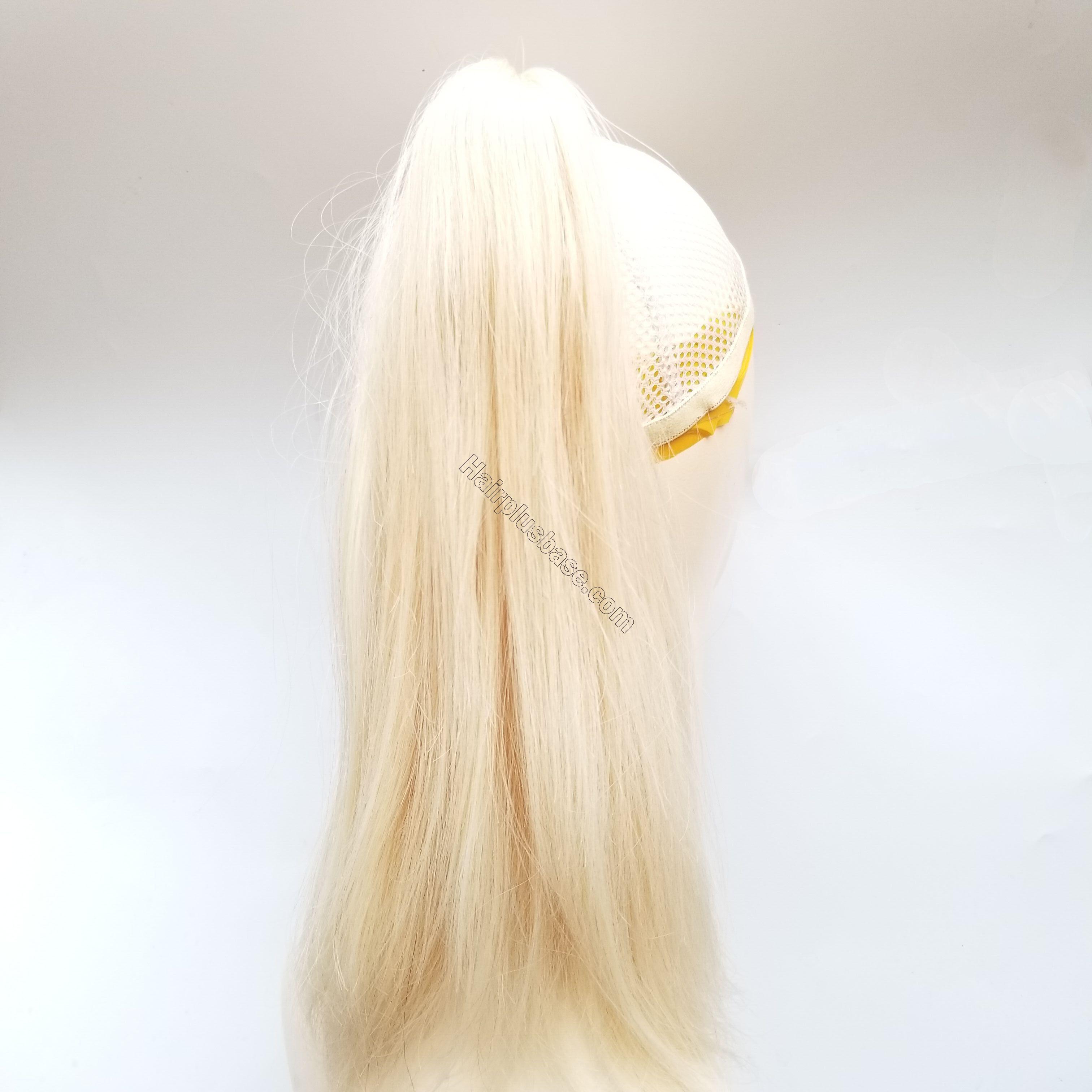 8 - 30 Inch Claw Ponytail Extension Human Hair #613 Bleach Blonde 4
