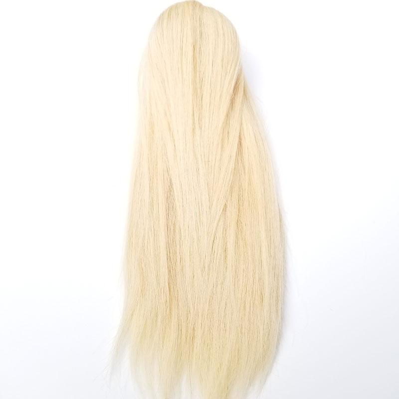 8 - 30 Inch Claw Ponytail Extension Human Hair #613 Bleach Blonde 7