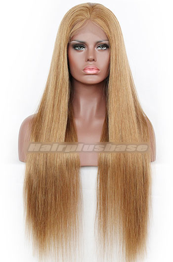 Silky Straight #8 Indian Remy Hair Full Lace Wigs{Custom Wig Production Time 30 days}