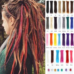 "8pcs 20"" Dreadlocks Reggae Dreads Locs Handmade Crochet Braiding Hair Extensions"