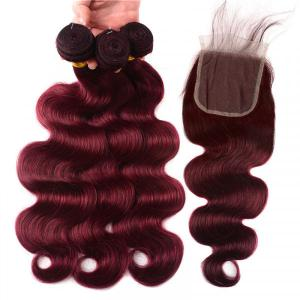 99J Brazilian Body Wave Hair Bundles With Closure 3pcs Hair Weave