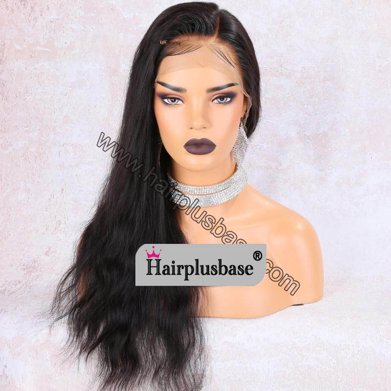 Advanced Pre Bleached Knots, Pre Plucked 360 Lace Wigs, Natural Straight, 150% Density, Indian Remy Hair