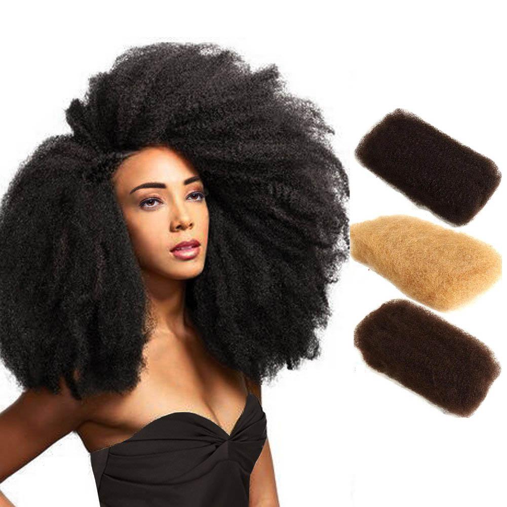 Afro Kinky Bulk 100% Remy Human Hair Mongolian 50g Hair Crochet Braiding 0
