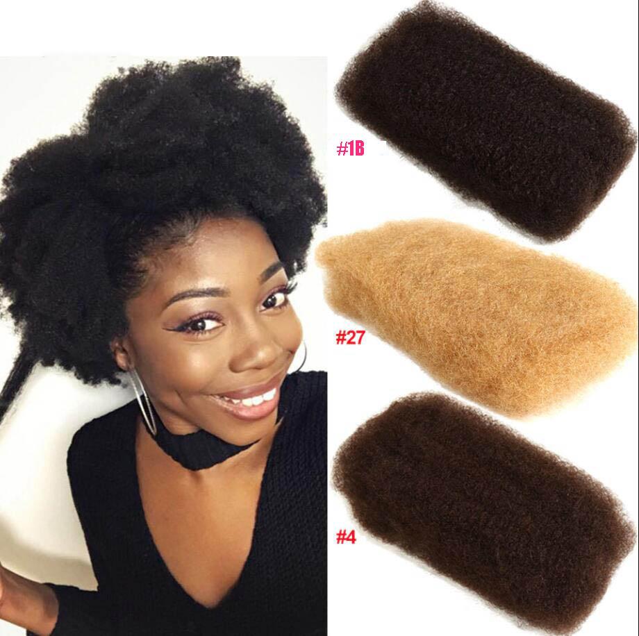 Afro Kinky Bulk 100% Remy Human Hair Mongolian 50g Hair Crochet Braiding 2