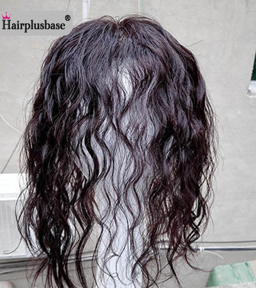 All Hand  Made Women 's Permanent Hair Reissue Of Hot Film 100% Human Hair Top Hairpiece 2