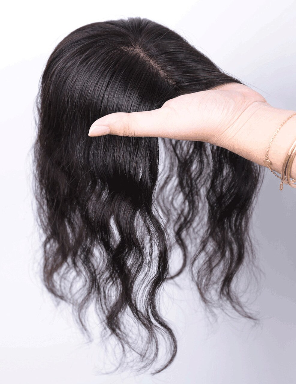 All Hand  Made Women 's Permanent Hair Reissue Of Hot Film 100% Human Hair Top Hairpiece 3