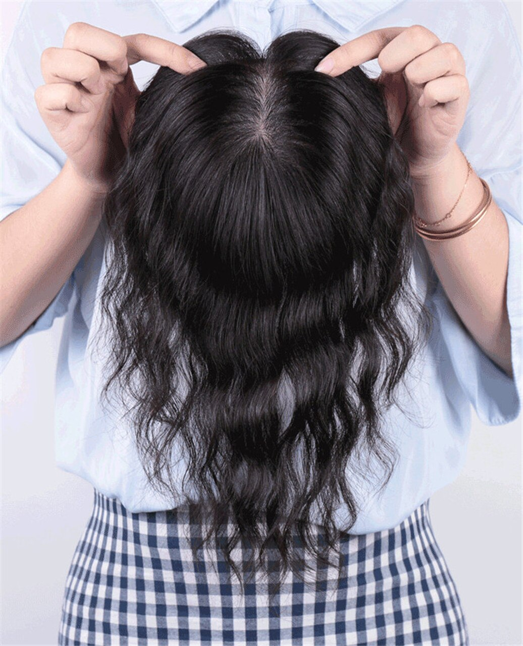 All Hand  Made Women 's Permanent Hair Reissue Of Hot Film 100% Human Hair Top Hairpiece 4