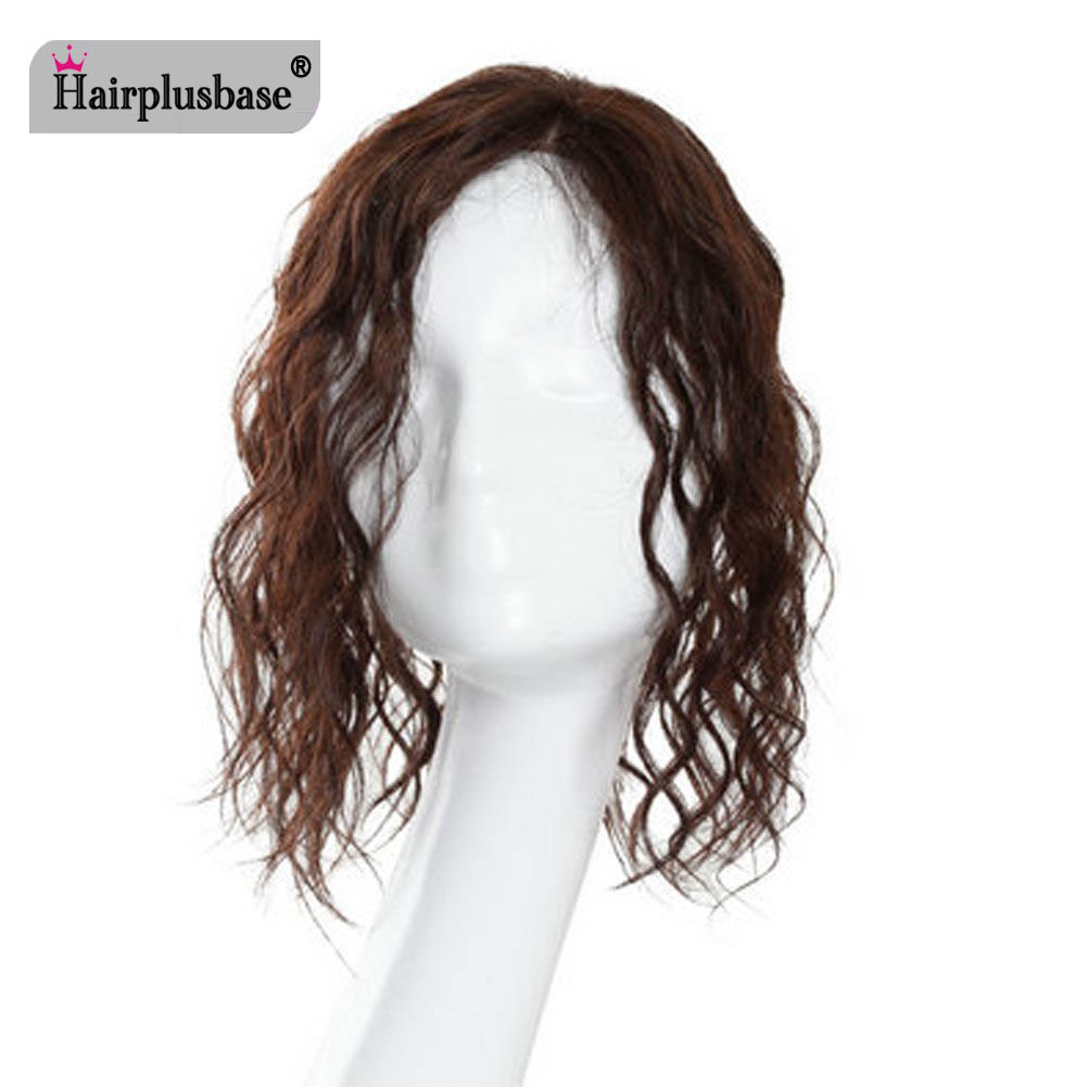 All Hand  Made Women 's Permanent Hair Reissue Of Hot Film 100% Human Hair Top Hairpiece 7