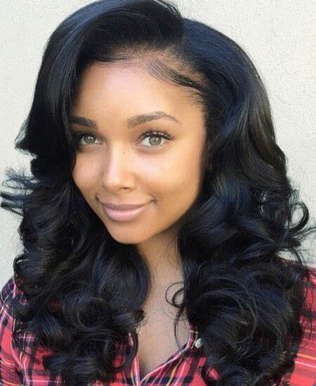 Avy Lace Front Wigs Indian Remy Hair Side Part