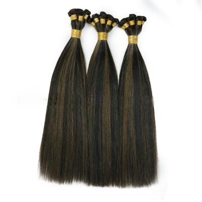 Best Hand Tied Hair Extensions Human Hair Weft Extensions 6 Bundles/Pack #1B/4