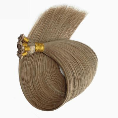 Best Hand Tied Hair Extensions Human Hair Weft Extensions Straight 6 Bundles/Pack