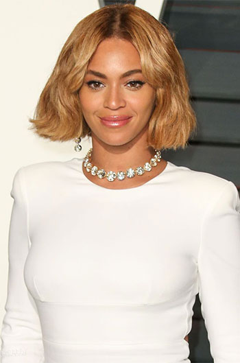 10 Inch Oscars Beyonce New Bob Inspired Ombre Blonde Lace Front Wigs
