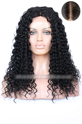 Big Curl Indian Remy Hair Middle Part Lace Front Wigs{Custom Wig Production Time 7-10 working days}