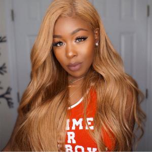 Body Wave #27 And Ombre Lace Front Wigs For Black Women 150%-200% Density