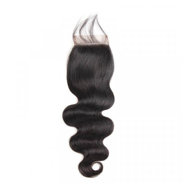 Body Wave 2 Bundles With 4*4 Lace Closure Human Hair Virgin Hair 4