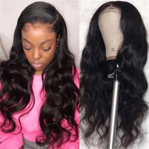 Body Wave 6inch Deep Part 370 Lace Front Wigs 180% Density 10-26Inch
