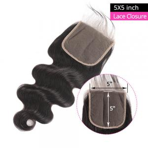 Body Wave Closure 5x5 Size Lace Frontal Closure Human Hair
