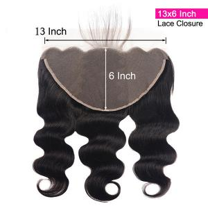 Body Wave Human Virgin Hair 13x6 Ear To Ear Lace Frontal Closure