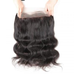 Body Wave Virgin Hair 360 Lace Frontal Human Hair Extensions
