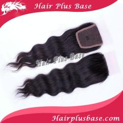 "Brazilian Remy Hair Loose Wavy Lace Top Closure(4""*4"") Wave,8""-18"" #1B Natural Black"