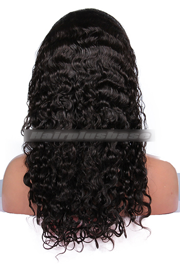 18 Inch Brazilian Virgin Hair Brazilian Curl Glueless Full Lace Wigs