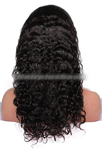 18 Inch Brazilian Virgin Hair Brazilian Curl Glueless Full Lace Wigs