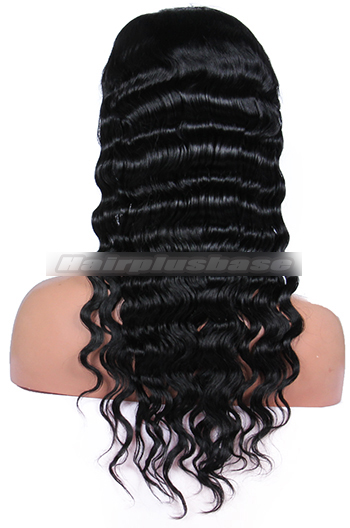 20 Inch Deep Body Wave Brazilian Virgin Hair Glueless Full Lace Wigs