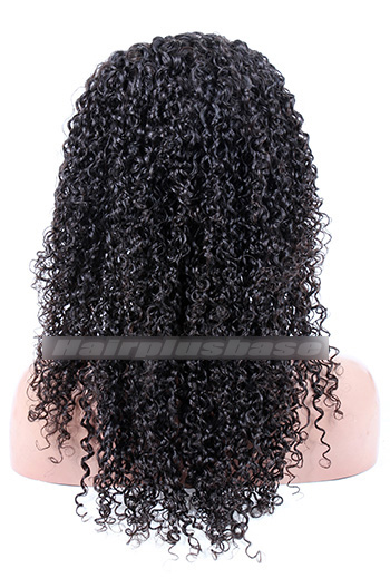 20 Inch 10mm Curl Style Brazilian Virgin Hair Full Lace Wigs