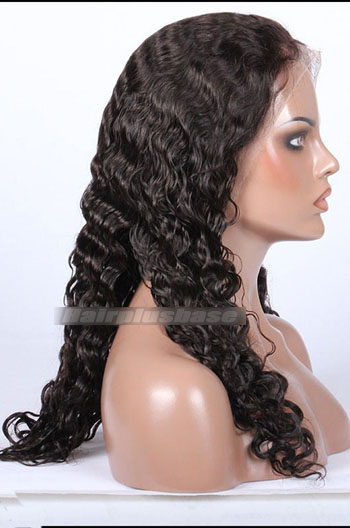 Brazilian Curl Style Brazilian Virgin Hair Full Lace Wigs